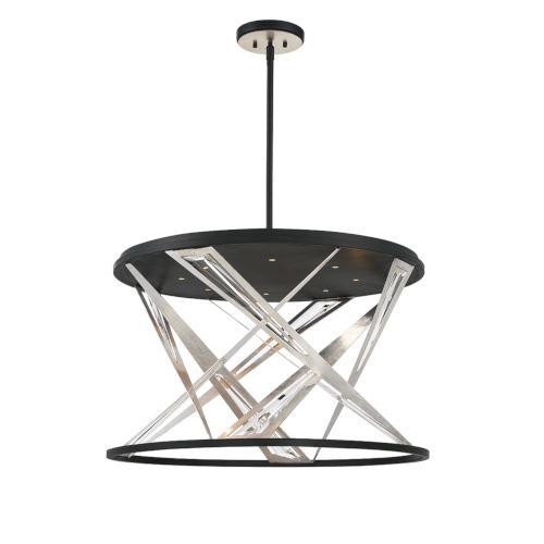 Sarise Black Eight-Light LED Chandelier