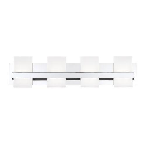 Cambridge Chrome Four-Light LED Vanity Bar