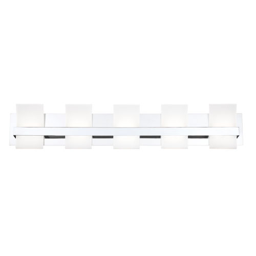 Cambridge Chrome Five-Light LED Vanity Bar