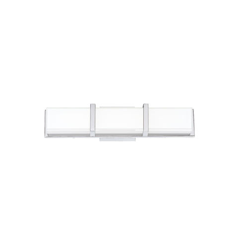 Gerrard Chrome One-Light 3-Inch LED Bath bar with 3000 Kelvin 1600 Lumens
