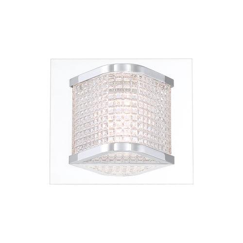 Belgroue Chrome Six-Light LED Wall Sconce