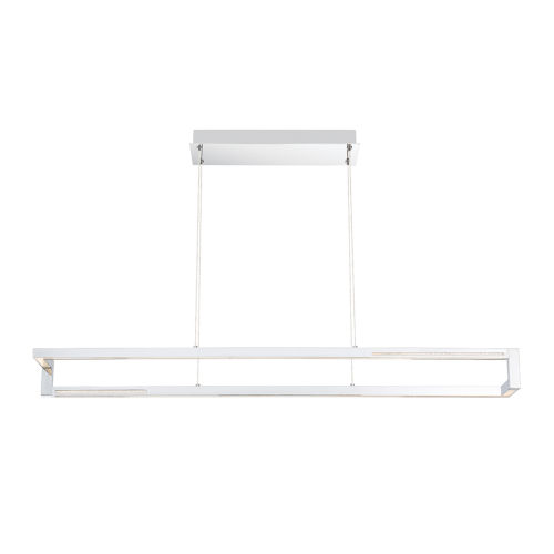 Clinton Chrome One-Light 39-Inch LED Chandelier