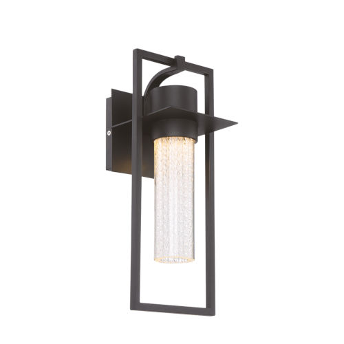Black One-Light 6-Inch LED Outdoor Wall Sconce
