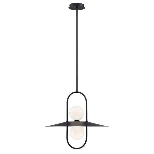 Millbrook Black Two-Light LED Chandelier