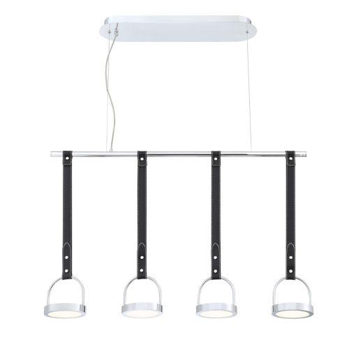 Lappin Chrome Four-Light LED Chandelier
