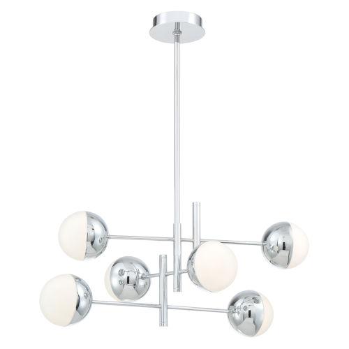 Fairmount Chrome Six-Light LED Chandelier