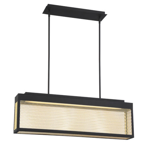 Coop Black and Gold One-Light 46-Inch LED Chandelier