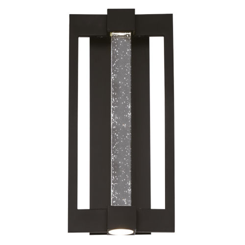 Hanson Black Three-Light LED Outdoor Wall Sconce