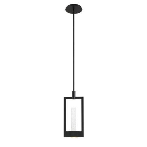 Hanson Black Two-Light LED Mini Pendant