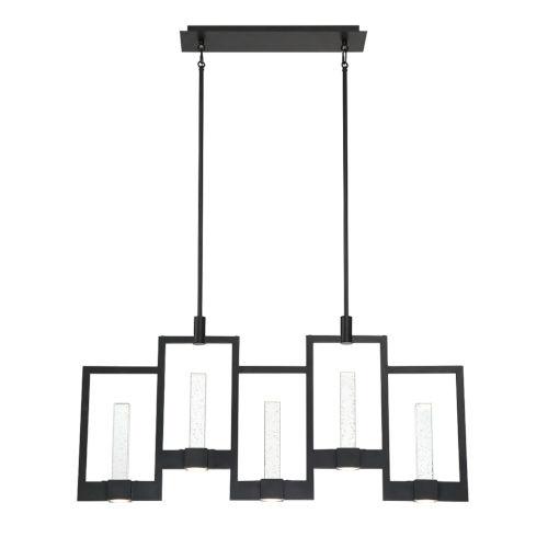 Hanson Black Ten-Light LED Chandelier