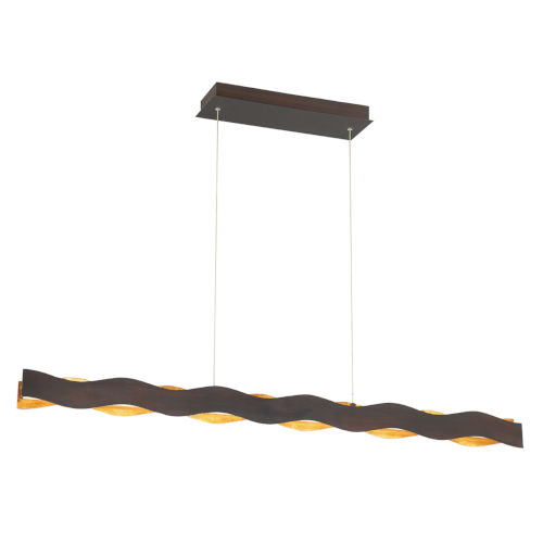 Ripple Bronze and Gold One-Light 48-Inch LED Chandelier