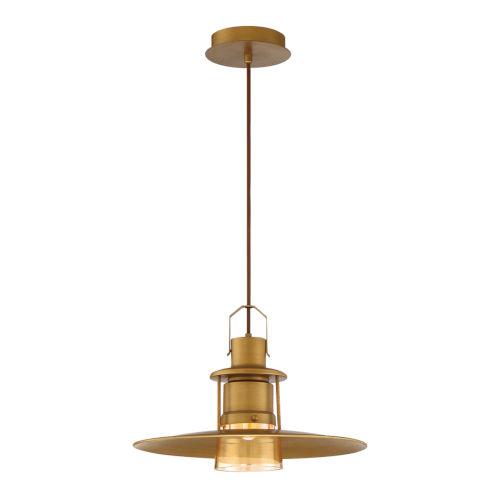 Lamport Antique Brass One-Light LED Pendant