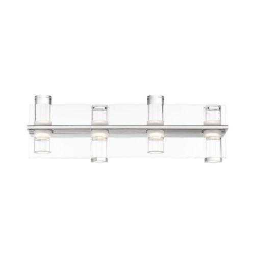 Netto Chrome Four-Light LED Vanity Bar