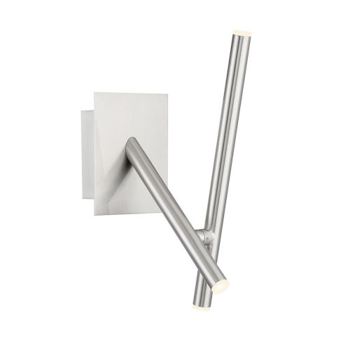 Crossroads Satin Nickel Three-Light LED Wall Sconce