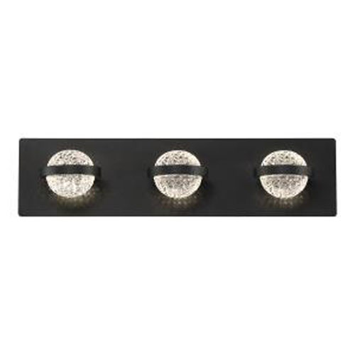 Ryder Black 20-Inch Integrated LED Bath Vanity
