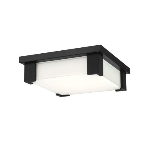 Thornhill Black 12-Inch LED Outdoor Flush Mount