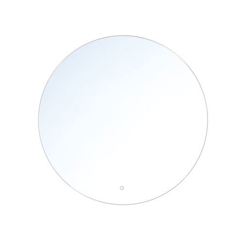 Clear Round Edge-Lit LED Wall Mirror