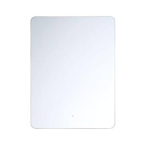 Clear 24-Inch Rectangular Edge-Lit LED Wall Mirror