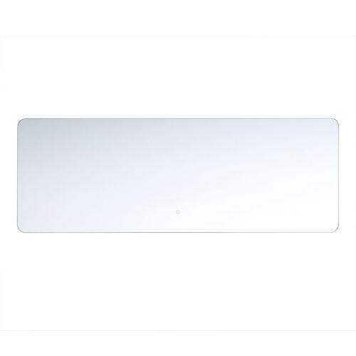 Clear 20-Inch Rectangular Edge-Lit LED Wall Mirror