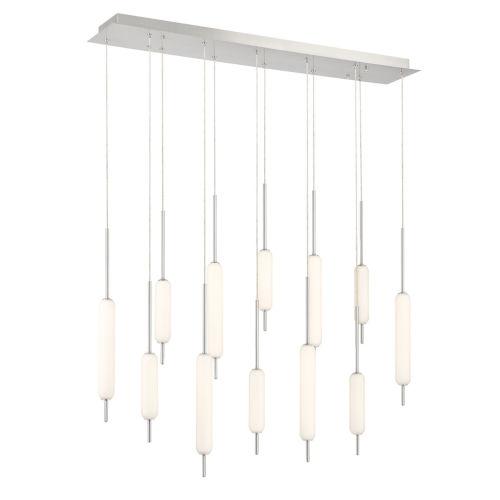 Cumberland Satin Nickel 12-Light LED Pendant