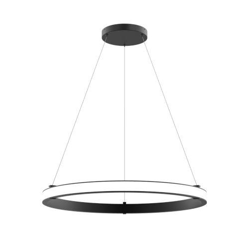 Mucci Matte Black and White 32-Inch Diameter LED Pendant