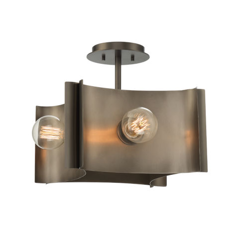 Metallo Vintage Nickel Four-Light Semi Flush Mount