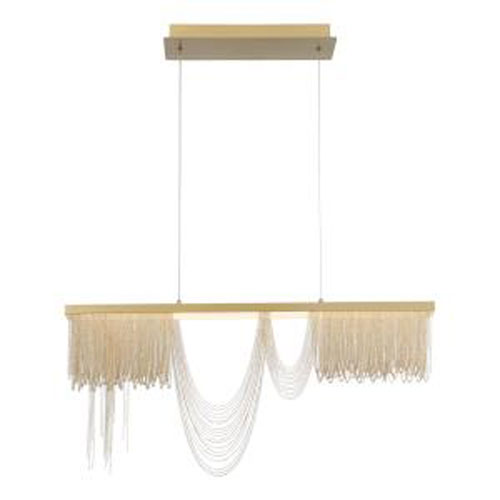 Tenda Gold and Brushed Brass 36-Inch Integrated LED Chandelier
