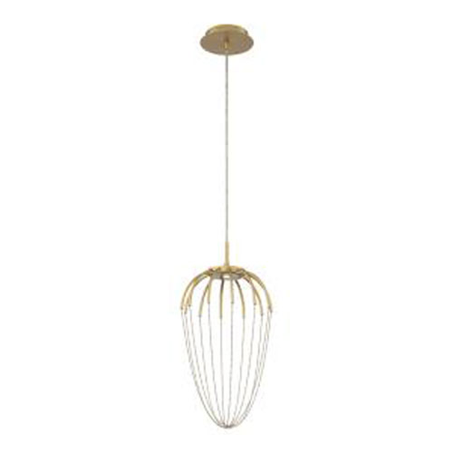 Frusta Gold 10-Inch Integrated LED Mini Pendant