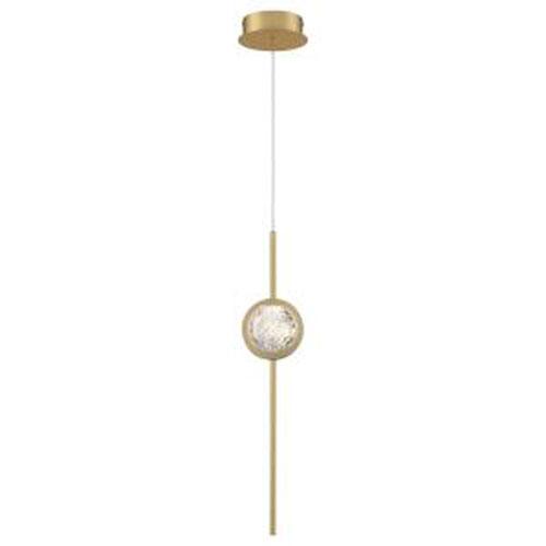 Barletta Brass Anodized Aluminum Integrated LED Mini Pendant