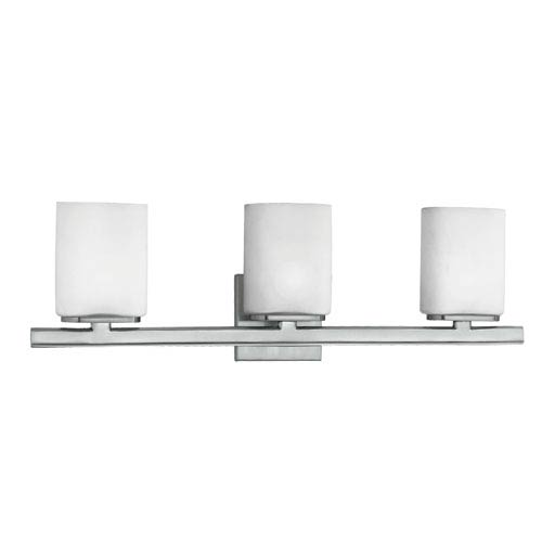 Eurofase Lighting Dolante Satin Nickel / White Three Light Bath Fixture with Opal Shade
