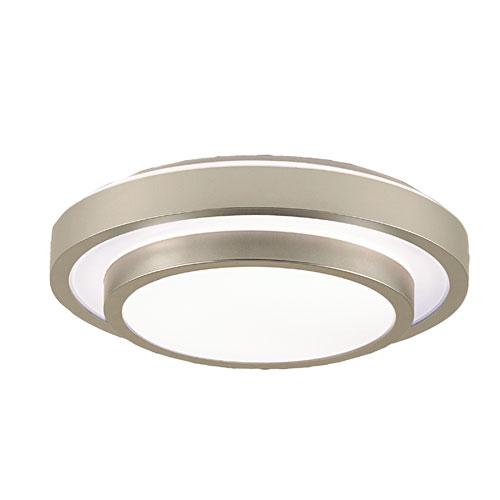 Noire Silver One-Light 18-Inch Flush Mount