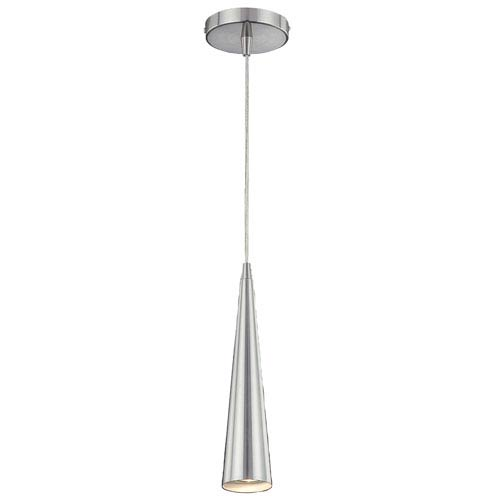 Sliver Satin Nickel One-Light 12-Inch Mini Pendant