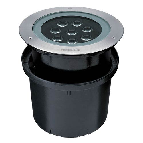 Eurofase Lighting Satin Nickel 10.5-Inch Wide LED Hydrofloor Landscape Light