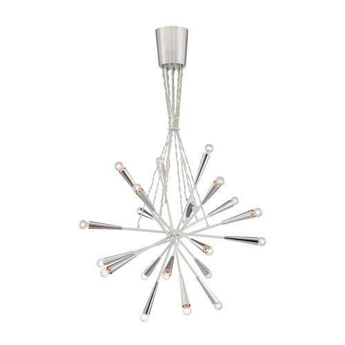 Eurofase Lighting Zazu White / Chrome 20 Light Pendant