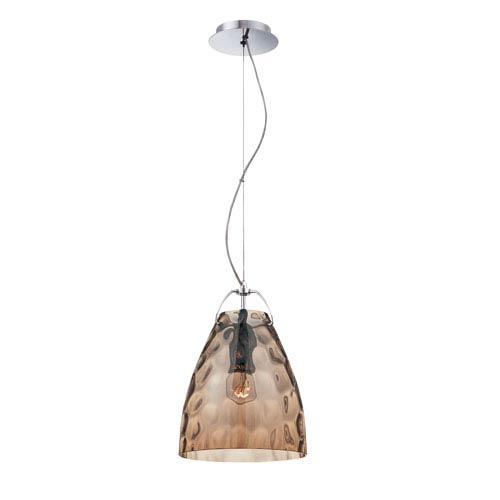 Amero Amber One Light Small Pendant with Amber Shade