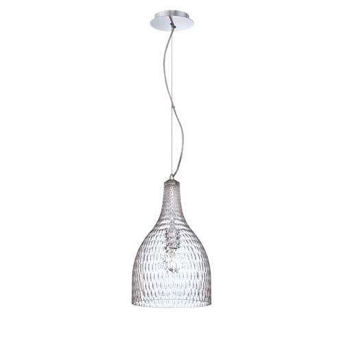 Eurofase Lighting Altima Clear One Light Large Pendant with Clear Shade