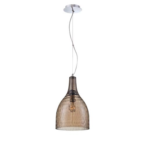 Altima Amber One Light Large Pendant with Amber Shade