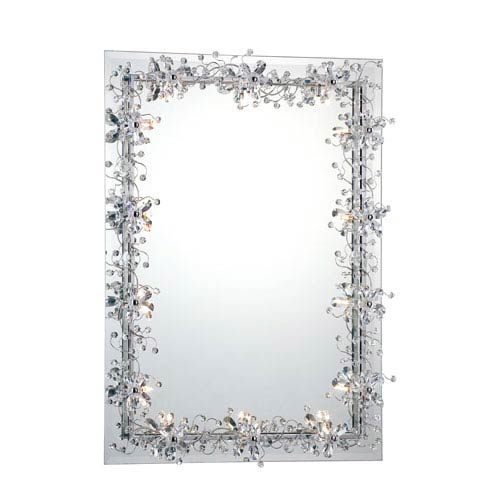 Relic Chrome/Crystal 14 Light Square Mirror