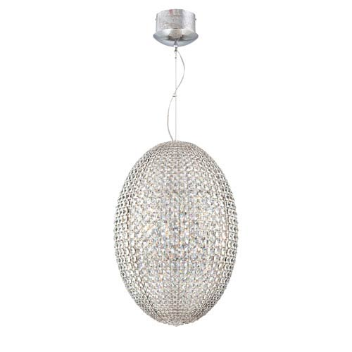 Encore Chrome 24 Light Pendant with Crystal Shade