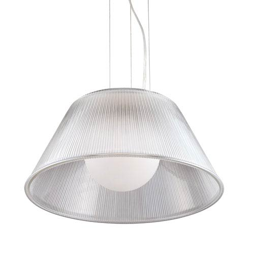 Eurofase Lighting Ribo Chrome One Light Large Pendant with Clear Shade
