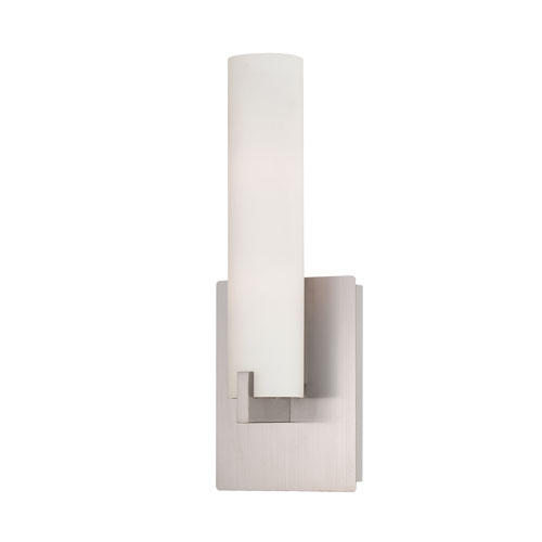 Eurofase Lighting Zuma Brushed Nickel Two Light Wall Sconce with Opal White Shade