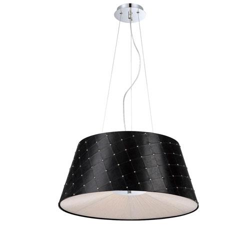 Sasso Black Three Light Pendant with Black Shade