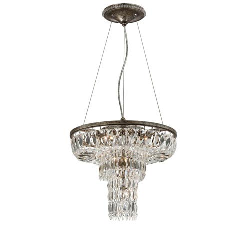 Rosalia Silver Nine Light Chandelier