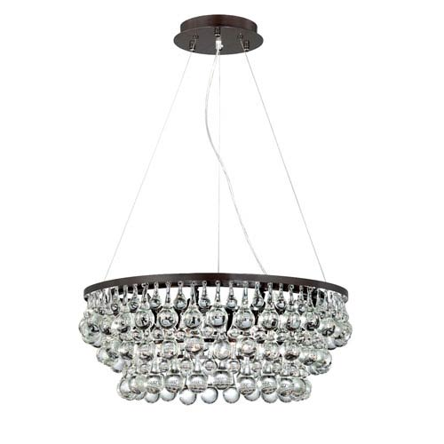 Canto Oil Rubbed Bronze Eight Light Chandelier with Clear Crystal Shade