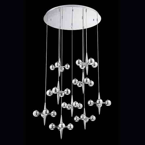 Pearla Chrome 39.75-Inch Wide LED Chandelier