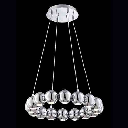 Pearla Chrome 23.75-Inch Wide LED Chandelier