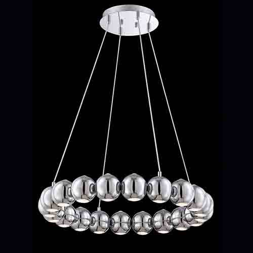 Pearla Chrome 29-Inch Wide LED Chandelier