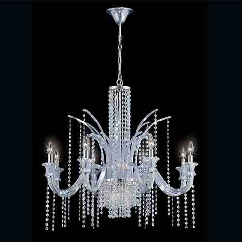 Eurofase Lighting Nava Chrome 14 Light 35 25 Inch Wide Chandelier With Ice Blue Crystal