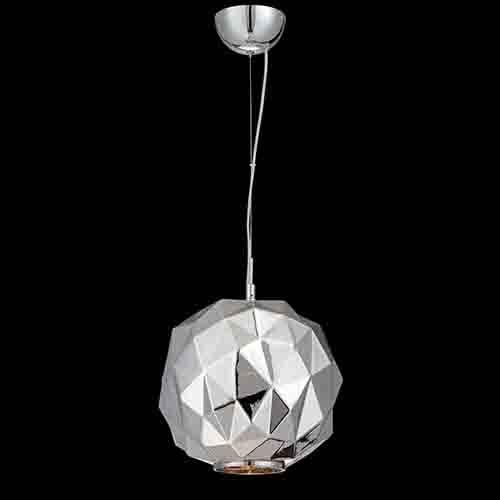 Eurofase Lighting Studio Chrome One-Light 11.75-Inch Wide Pendant with Chrome Glass