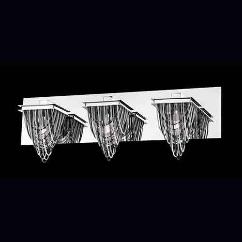 Eurofase Lighting Wasaga Chrome Three-Light Bath Fixture with 3 Tones Metal Chain